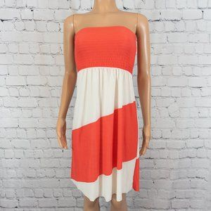 5th & Love pink and white striped strapless dress